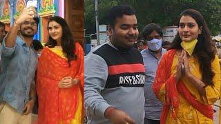 Actress Payal Rajput Visits Miralam Mandi Mahankali Temple In Old City | TFPC - TFPC