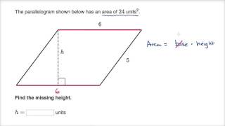 Finding height of a parallelogram
