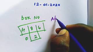 Pournami-426(RN) 12-01-2020 Kerala Lottery Guessing number today