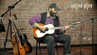 Otis Taylor Playing On His Signature Santa Cruz Guitar at Our Studios