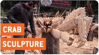 Sculptor Carves Giant King Crab | Crabby Patties