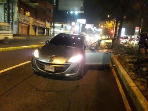 Incidente de tránsito en la colonia San Ignacio, zona 7 de Mixco