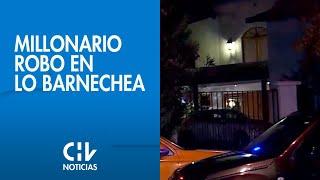 Amarraron a familia para cometer millonario robo en casa de Lo Barnechea