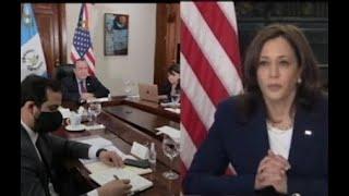 Presidente Giammattei sostuvo reunión con la vicepresidenta Kamala Harris