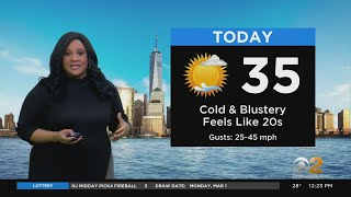 New York Weather: Whipping Winds