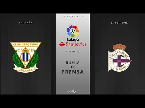 Rueda de prensa Leganés vs Deportivo
