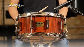 Pork Pie 6.5x14 Rosewood Snare Drum Natural Gloss—Quick 'n' Dirty