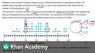 Sample statistic bias worked example