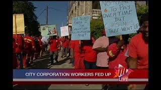 POS City Corp. Workers Protest Over Poor Working Conditions