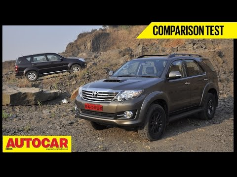 Toyota Fortuner 4X4 AT VS Ssangyong Rexton RX7 | Comparison Test | Autocar India