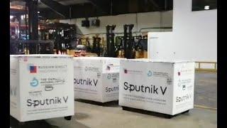 Llegan a Guatemala 50 mil dosis de la vacuna Sputnik V