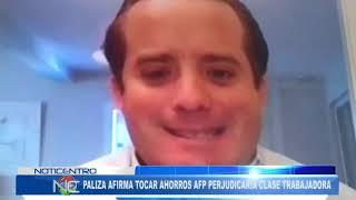 José Ignacio Paliza afirma tocar fondos AFP perjudicaría clase trabajadora