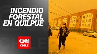 Incendio forestal en Quilpué: Onemi ordenó la evacuación de las viviendas del sector