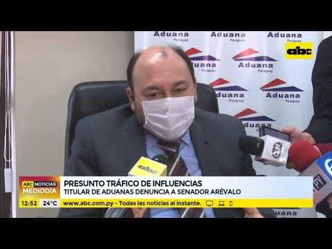 Titular de Aduanas denuncia al senador Martín Arévalo por presunto tráfico de influencias