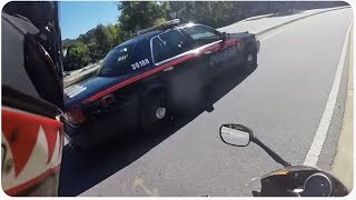 Driver Breaks Law In Front Of Cop