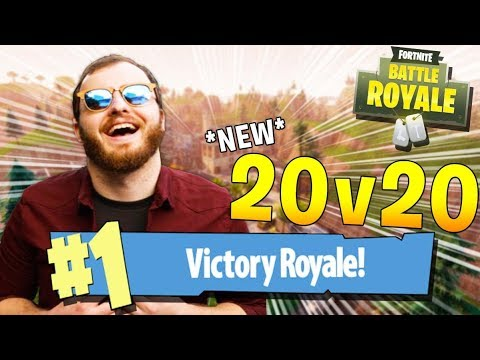 *INSANE BATTLES* THE NEW 20v20 MODE! w/ Biffle (Fortnite Battle Royale Gameplay)