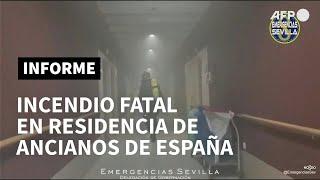 Incendio fatal en residencia de ancianos en España   AFP