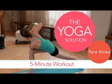 5 Minute Workout with Tara Stiles