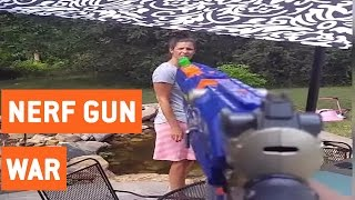 Husband Shoots His Wife With Nerf Guns For a Week | Nerf Gun War