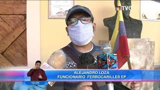 Trabajadores de ferrocarriles del Ecuador realizaron un plantón