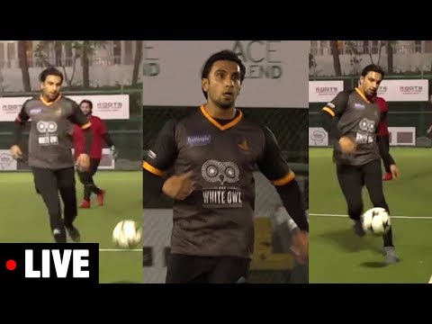 connectYoutube - LIVE Ranveer Singh Playing FOOTBALL Game |Roots Premier League | Spring Season 2018