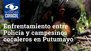 Un muerto y tres heridos deja enfrentamiento entre Policía y campesinos cocaleros en Putumayo