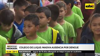 Colegio de Luque: Masiva ausencia por dengue
