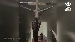 Dirección General de Bomberos investigan incendio en Catedral de Managua