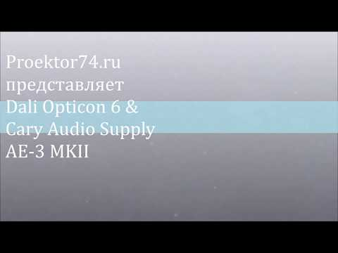 Прослушивание Dali Opticon 6 & Cary Audio Supply AE-3 MKII