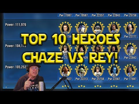 Star Wars: Galaxy Of Heroes - Top 10 Heroes - Chaze Counters Rey Jedi Training