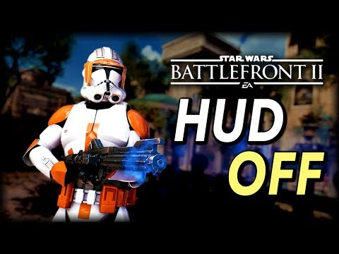 How To COMPLETELY Turn HUD Off In Star Wars Battlefront 2 - How To Film Cinematics Tutorial
