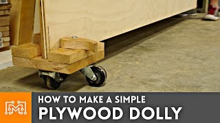 How to Make Simple Plywood Dolly // Woodworking
