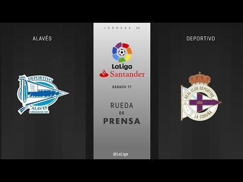 Rueda de prensa Alavés vs Deportivo