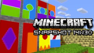 Minecraft: Banners, Super Chunk Loading, & More! (Snapshot 14w30b)