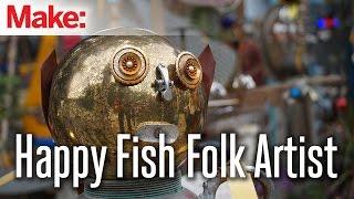Ralph Douglas Jones: Happy Fish Folk Artist