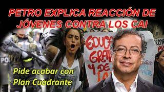 Férrea defensa de Gustavo Petro a los jóvenes de Colombia
