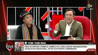 Entrevista en exclusiva para Aquí En Vivo, el dirigente Alvaro Chuquimia