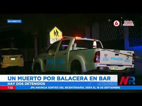 Un hombre muere en balacera registrada en un bar de Heredia
