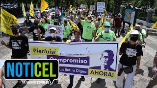 Jubilados marchan a Fortaleza por un 'retiro digno'