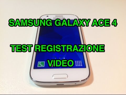 Samsung Galaxy Ace 4 - test video