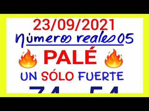NÚMEROS PARA HOY 23/09/21 DE SEPTIEMBRE PARA TODAS LAS LOTERÍAS...!! Números reales 05 para hoy...!!