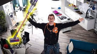 Ultimate Tour of Our NEW $100,000 Studio - Dyson Cyclone V10 Showcase