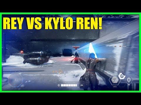 Star Wars Battlefront 2 - Nice Rey and Kylo Ren duel! | I 800 I NEED HELP!
