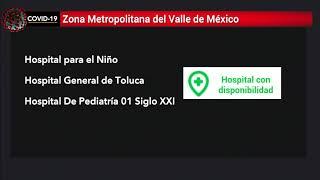 Solo hay disponibilidad en 3 hospitales de la Zona Metropolitana del Valle de México para COVID