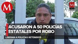 Tras 17 horas retenidos, liberan a 50 policías de Edomex acusados de robo