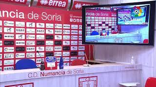 Rueda de prensa CD Numancia vs Extremadura UD