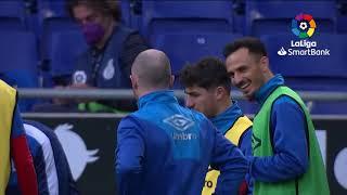 Calentamiento RCD Espanyol de Barcelona vs Rayo Vallecano