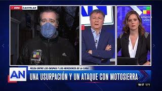 Una usurpación y un ataque con motosierra en Castelar