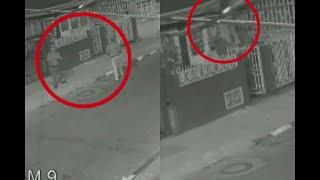 Haciendo escalera humana, estos tres ladrones intentan entrar a casas en Bogotá