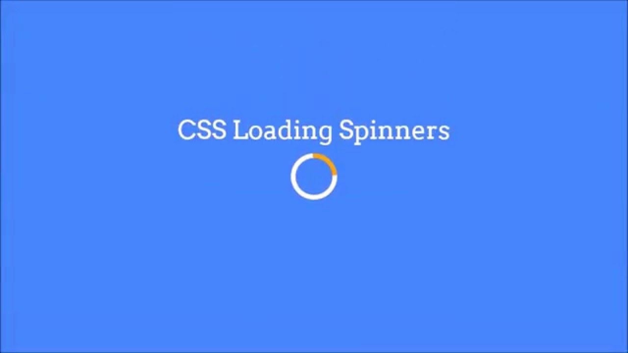 How to make css loading spinner